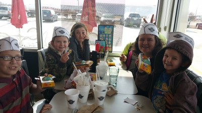 Students earn a special trip