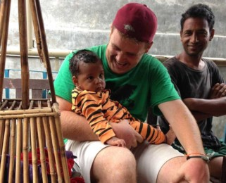 Aaron on a mission in India