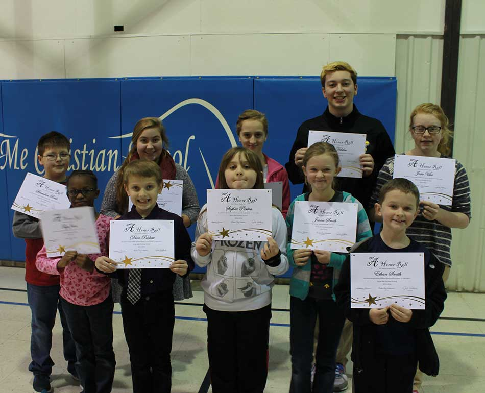 B Honor Roll students 2015 3rd quarter