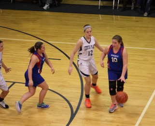 Girl's basketball team playing at CPRS