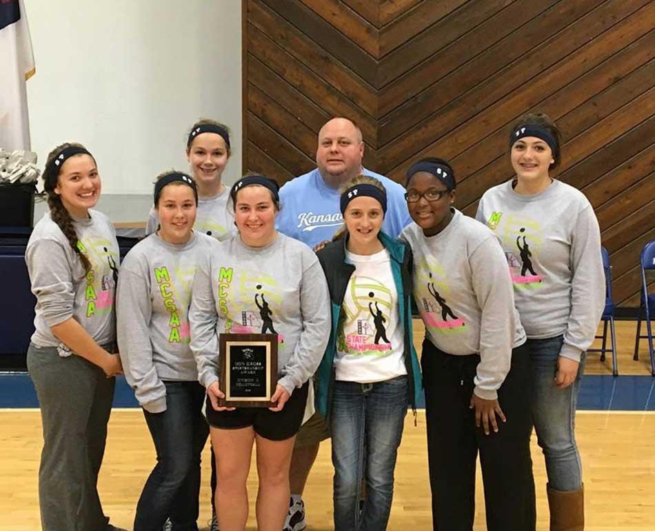 Volleyball team receives state sportsmanship award