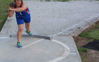 Throwing the shot put