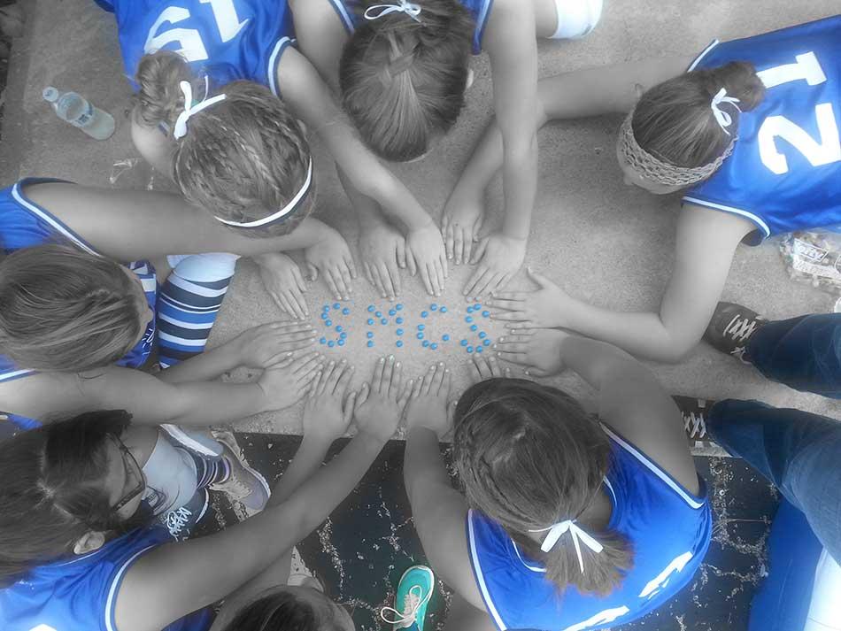 Volleyball team shows school spirit