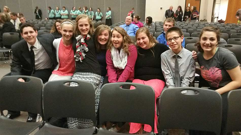 Students ready for ACE Regional Convention