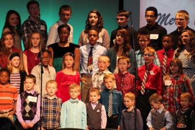Students perform at Christmas time