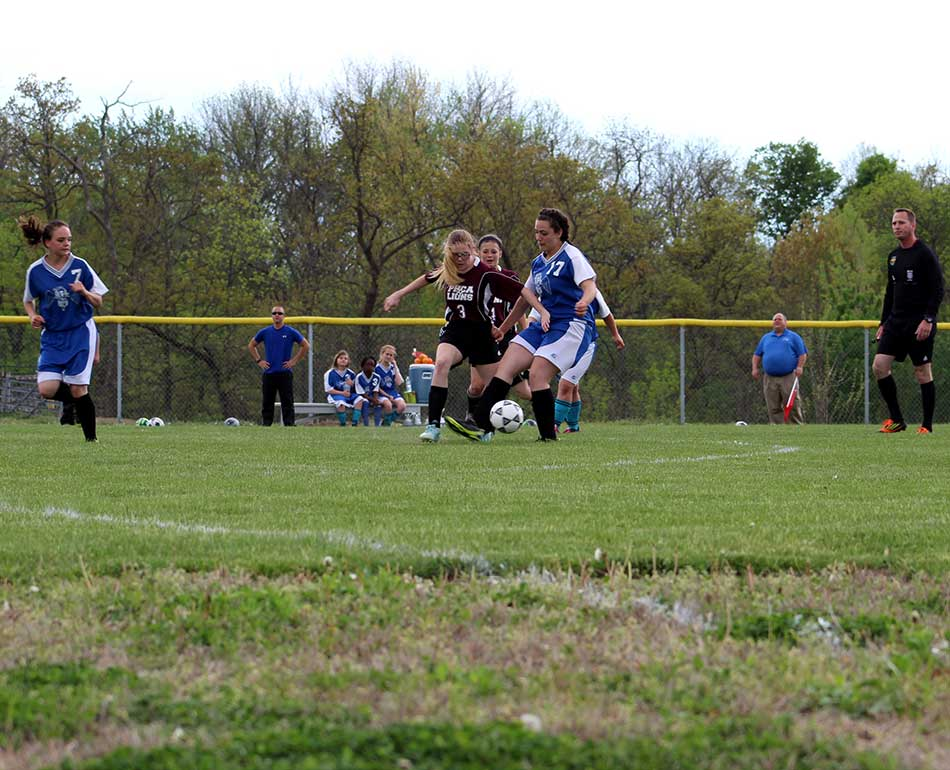 blocking the defender