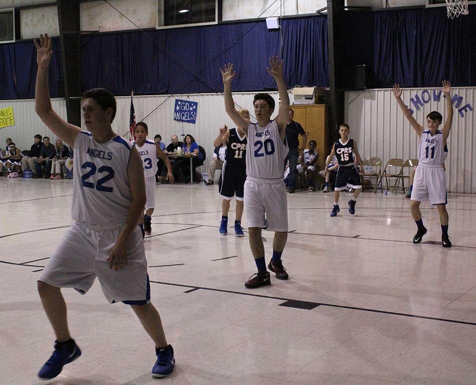 boys defending the ball