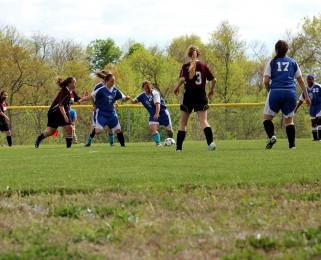 running down field