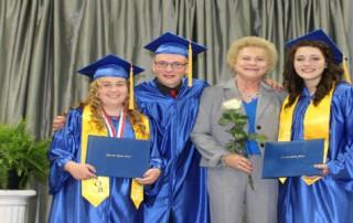 2017 Graduates with Key Note Speaker, Executive Director Emeritus, Karen Culler